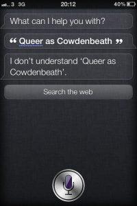 Ricerca in scozzese usando Siri