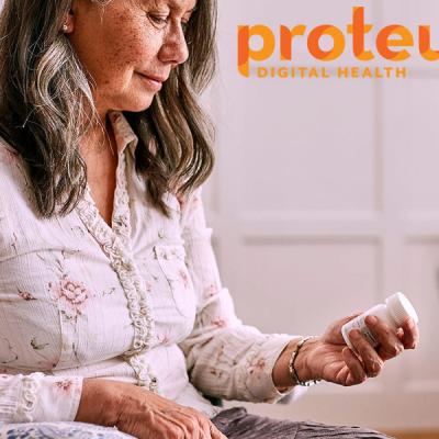Proteus Health analizza le abitudini di salute dei singoli pazienti tramite un cerotto indossato dal paziente. Questo sensore invia i dati allo smartphone del paziente e del suo caregiver e li aiuta a gestire meglio la patologia.