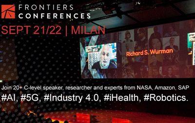 Frontiers Conference -21-22 Settembre 2017, Milano  Nella cornice del Vodafone Village di Milano ritorna il 21 e il 22 Settembre Frontiers Conferences. Nella due giorni si potranno esplorare le frontiere dell'innovazione in particolare quelli riguardanti Intelligenza Artificiale, Industria 4.0, robotica, 5G e salute. Quest'anno da non perdere il fast track italiano di Frontiers Health Berlino, la verticale salute di Frontiers Conference lanciata nel 2016. Il 21 Settembre a partire dalle 14 sarà possibile conoscere le più importanti startup health della scena italiana, mentre il 22 Settembre nel pomeriggio Roberto Ascione, Ceo di Healthware International e Chairman di Frontiers Health Berlino, condividerà la propria visione sul futuro digital della salute e come questa possa diventare umana, diffusa e sostenibile grazie alla trasformazione digitale. Per maggiori dettagli sull'evento è possibile consultare l'agenda.