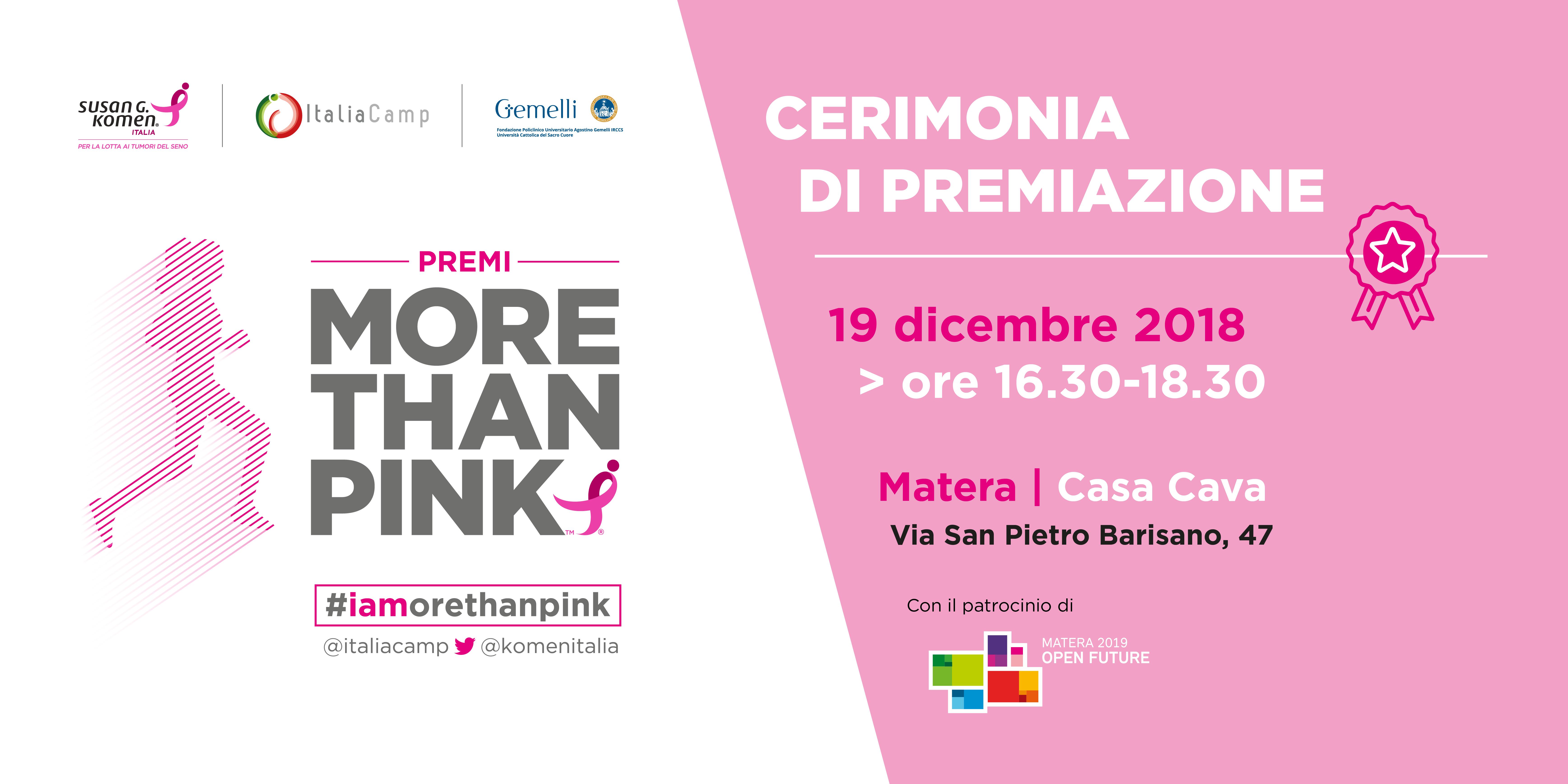 More Than Pink A Matera Premiati I Progetti Innovativi Sul Tema Della Salute E Del Benessere Salute Digitale In Italia